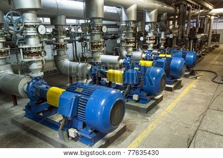 Blue Industrial Pump