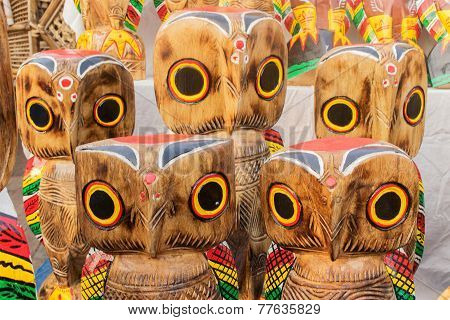 Wooden Owls , Indian Handicrafts Fair At Kolkata
