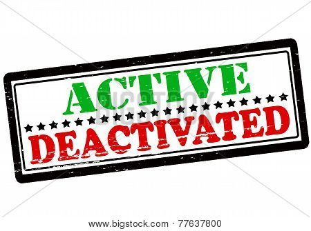Active And Deactivated
