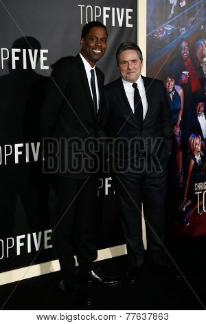 NEW YORK-DEC 3: Comedian/actor Chris Rock (L) and Chairman and CEO of Paramount Pictures Brad Grey attend the