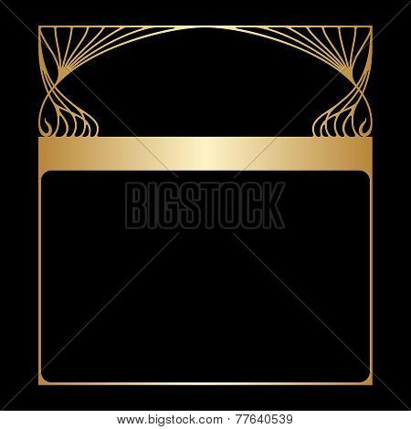 Vector Art Nouveau Frame With Space For Text.