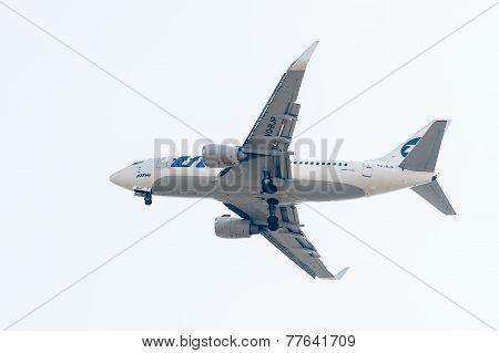 Flying Boeing 737-524 of Utair company