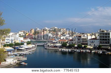 Bay In A Small Greek Town