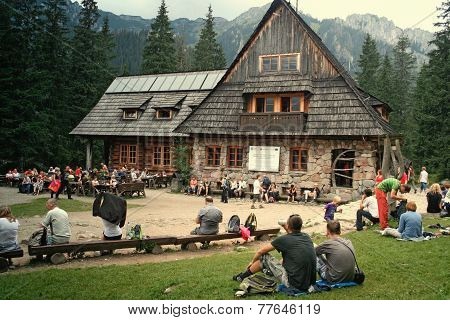 mountain chalet in tatra mountains
