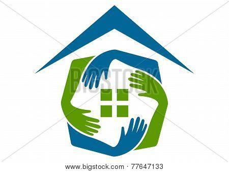 home care vector logo design