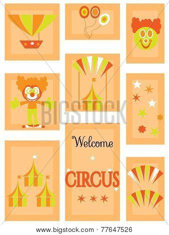 The circus - icon set