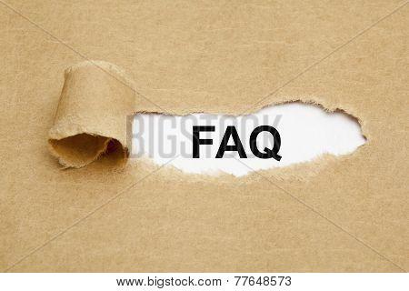 Faq Torn Paper
