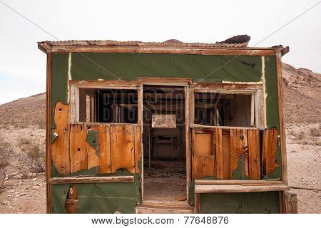 Primitive Building Still Stands Rhyolite Ghost Town Nevada