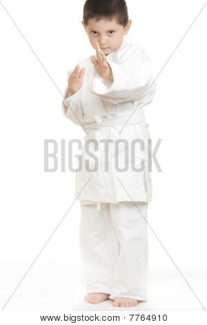 Serious Little Karate Kid
