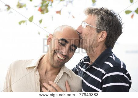 Portrait of a happy gay couple in love