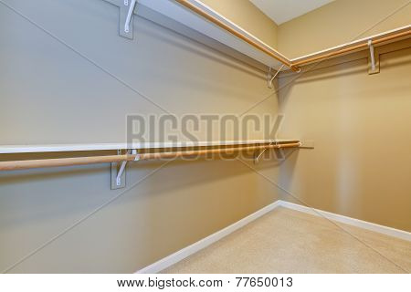 Empty Walk-in Closet