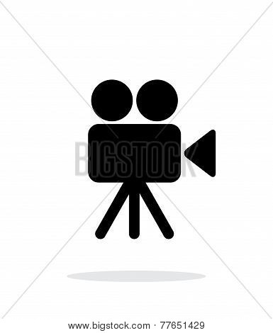 Camera icon on white background.