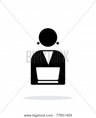 Broadcaster icon on white background.