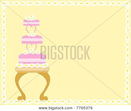 Pastel de bodas y mesa