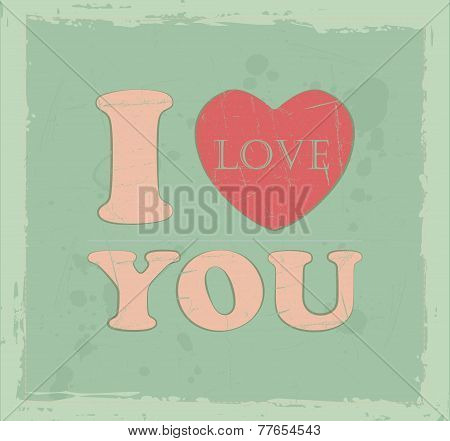 Vintage I love you message