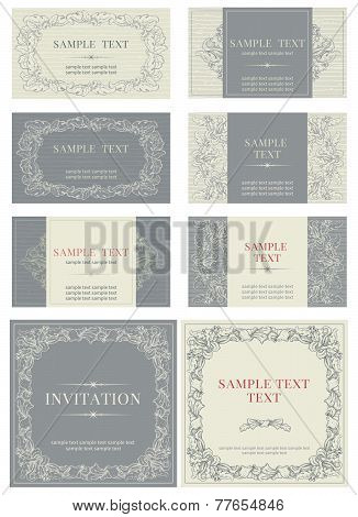 Set of  business cards and invitations