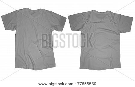 Wrinkled Grey Shirt Template