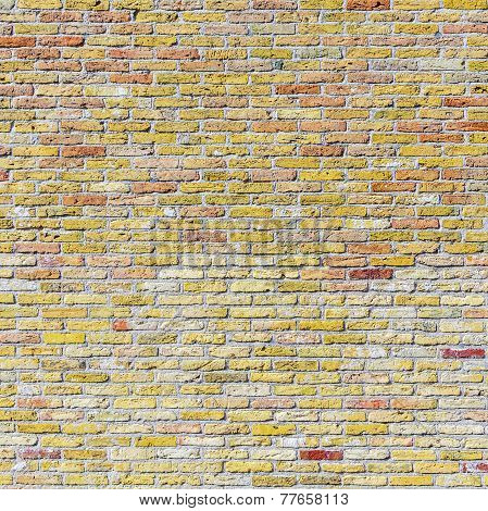 Old Harmonic Brick Wall Background