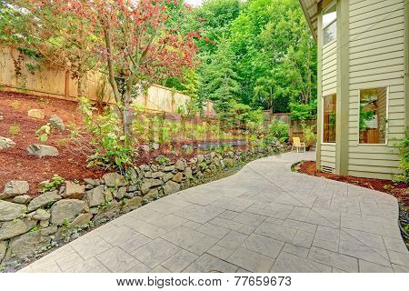 Backyard Leveled Landscape Design