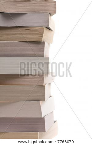 Stacked Paperback Books