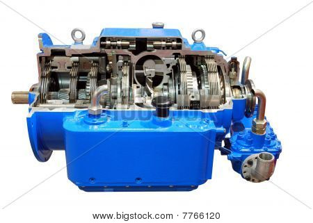 heavy truck automatic transmission isolated