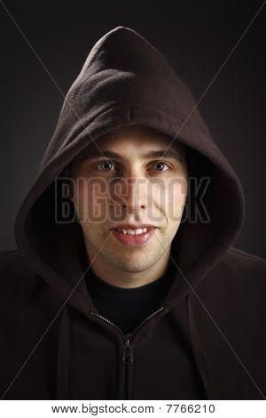 Man Wear Hoodie Portrait