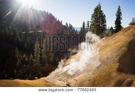 Searing Steaming Boiling Hot Thermal Pools Lassen Volcanic Area