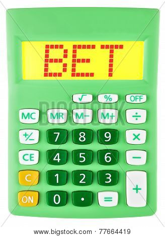 Calculator With Bet On Display