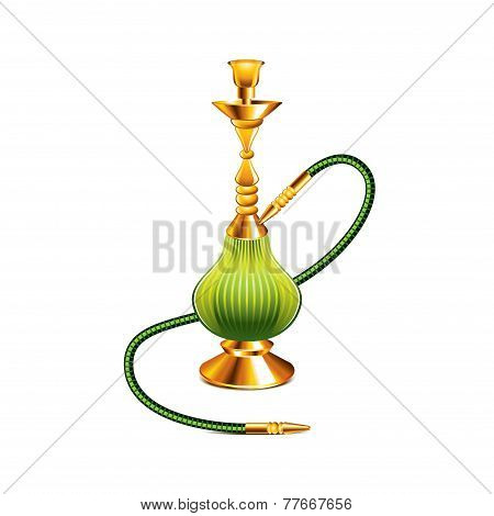 Hookah Isolated On White Vector