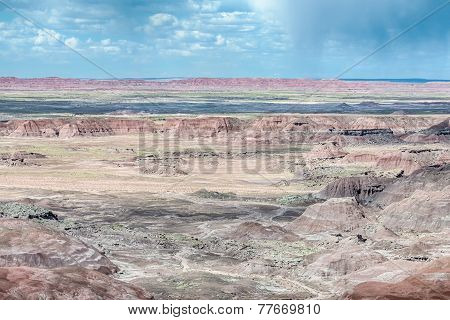 Route 66: Tawa Point Storm, Painted Desert, Petrified Forest National Park, AZ