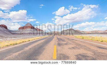 Route 66: Tepees, Blue Mesa, Petrified Forest Road, Petrified Forest National Park, AZ