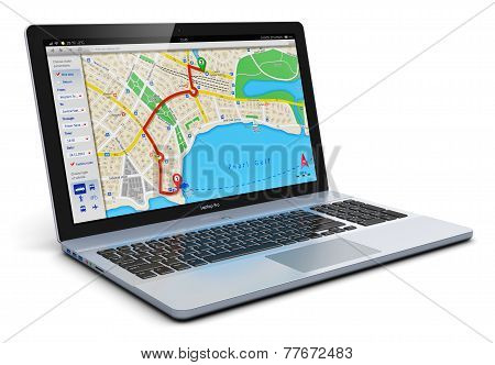 GPS navigation on laptop