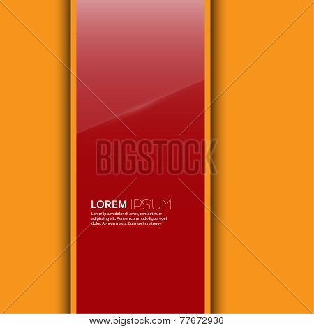 Red glossy blank with a background