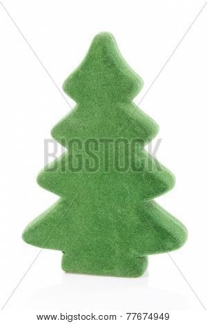 Small Christmas Tree Isolated At White Background