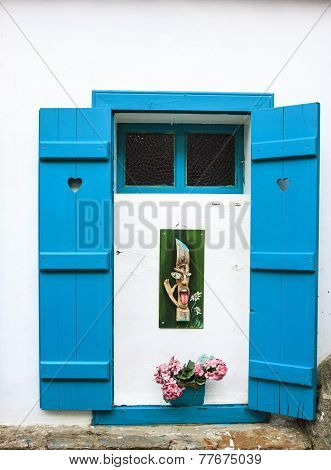 Blue Window In Sirince