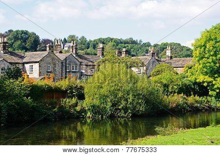 Riverside cottages, Bakewell.