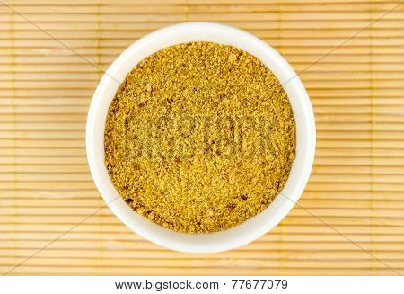 Top View Of Ground Flaxseed Powder