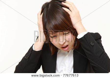 frustrated young businesswoman