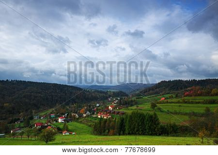 The Village In The Bieszczady Mountains