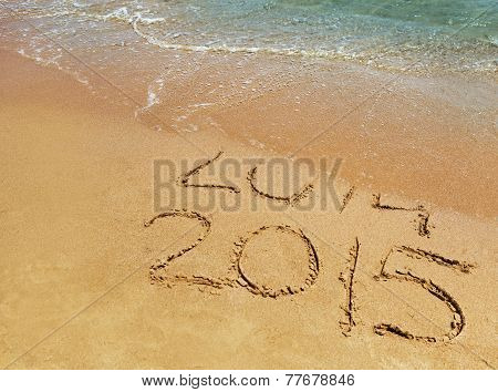 New Year 2015 Is Coming Concept