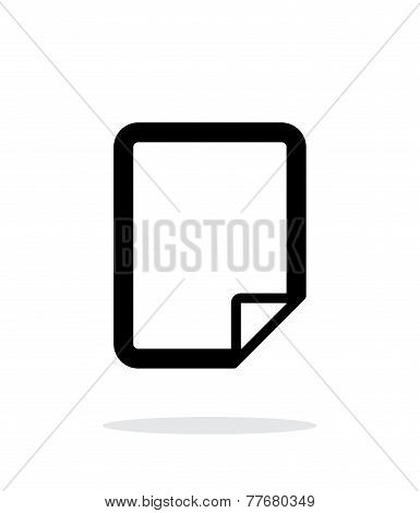 Notepad page flip icon on white background.