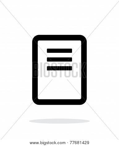 Note page icon on white background.