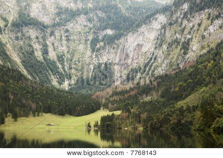 View Of Obersee Of Koenigssee Near Berchdesgaden