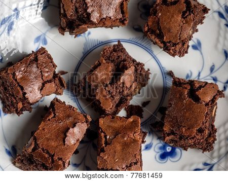Delicious Brownies Made Of Chocolate