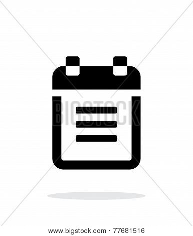 Notepad with spiral icon on white background.