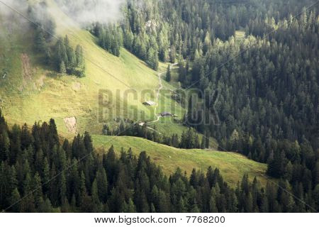 Two Huts In The Bavarian Alps