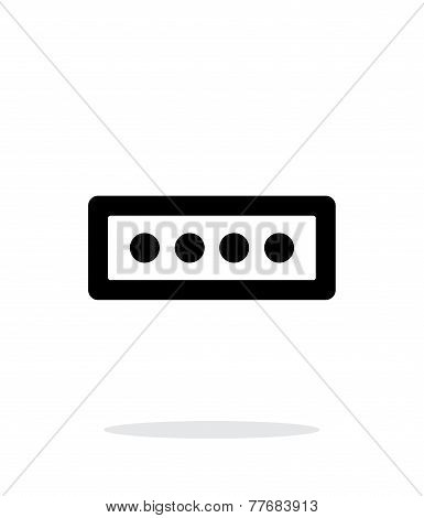 Password form icon on white background.
