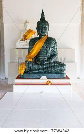 Jade And White Buddha Image