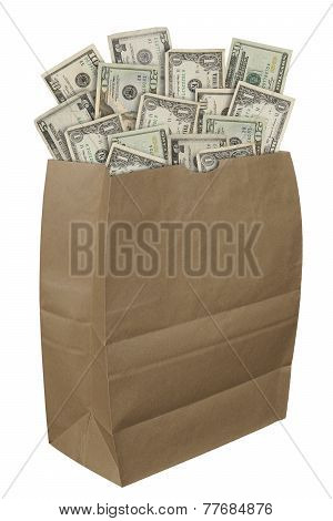 Paper Bag Of Money