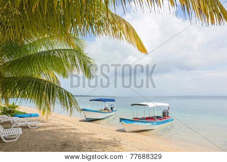 Boats at the beach, Panama
